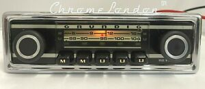 Rare GRUNDIG Vintage Chrome Classic Car FM Radio +MP3 WARRANTY ALFA GTV SPIDER