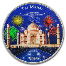 2016 Ivory Coast 2 oz Silver Magnificent Landmarks Taj Mahal