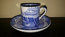$39 SPODE ITALIAN BLUE DEMITASSE CUP AND SAUCER SET