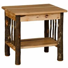 Rustic Hickory and Oak End Table - Amish Made in USA
