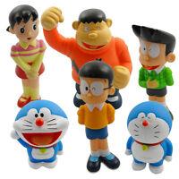 6pcs Doraemon Nobita Shizuka Takeshi Suneo PVC Figure Set