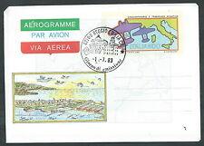 1983 ITALIA AEROGRAMMA TRASVOLATA ATLANTICA FDC - 2