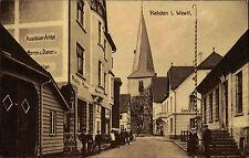 Rahden Westfalen 1918 Central Hotel Geschäft Aussteuer Artikel Geschäft Kirche