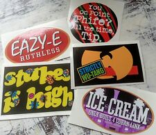 5 VINYL STICKERS EAZY E WU TANG CLAN A TRIBE CALLED QUEST DE LA SOUL DECAL ATCQ