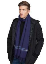 Bufanda de hombre en color principal azul 100% lana