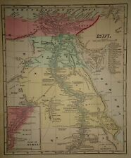 Antique 1856 Hand Colored EGYPT - NUBIA MAP Old Authentic Vintage Atlas Map