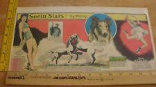 Lassie Yvonne De Carlo Seein' Stars Feg Murray 1940s Sunday color panel 4g
