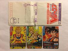 Data Carddass Dragon Ball Z Promo Set Son Goku M-P/12/13/14-I