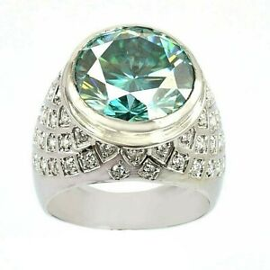 HUGE 12.50 Ct Certified Blue Diamond Ring With Diamond Accents, WATCH VIDEO