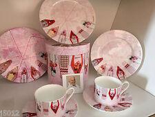 Christopher Vine Design Inhesion 2 Cup & Saucer Set Fine Bone China
