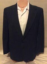 Botany 500 Blue Sport Coat Men 42R Plaid Jacket 2 Button Blazer Partial Lined