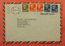 Dr Who 1946 Norway Haugesund Airmail To Usa C227783