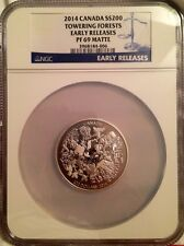 2014 Canada Silver $200 Towering Forests PF 69 MATTE Early Release NGC COIN