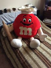 "M&M Red Plush Stuffed Toy Fun Friends 1994 Mars Inc. Big Very Rare Chef 45"""