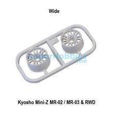 Llanta ancha blanca Offset 2.0 (2 U) Kyosho Mini-Z MR-02/ MR-03 / RWD MZH131W-W2