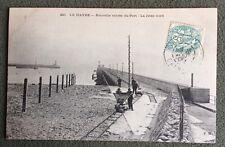 CPA. LE HAVRE. 76 - Nouvelle entrée du Port. La Jetée nord. 1906?