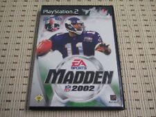 Madden NFL 2002 02 para PlayStation 2 ps2 PS 2 * embalaje original *