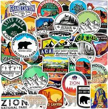 50 National Park Adventure Nature Stickers Outdoors Hiking Camping Decal Kid