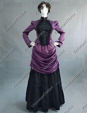 Victorian Edwardian Bustle Dress Witch Gothic Vampire Halloween Costume 139 XL