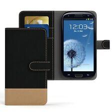 Tasche für Samsung Galaxy S3 / Neo Jeans Cover Handy Schutz Hülle Case Schwarz