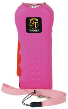 Safety Technology  Trigger Pink 18 MIL Rechargeable Stun Gun With Flashlight