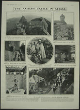 Kaisers Castle In Alsace Hohkonigsburg Schlettstadt 1908 1 Page Photo Article