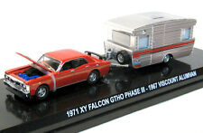 1971 RED Ford Falcon XY GTHO Phase III Sedan  1967 Viscount Caravan 1:64 DieCast