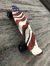 Red, white, and Blue Pennyboard skateboard