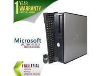 DELL Desktop Computer OptiPlex GX755 Core 2 Duo E7600 (3.06 GHz) 4 GB DDR2 160 G