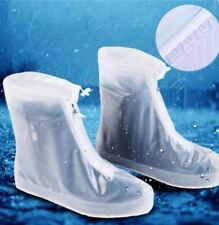 Foldable Waterproof Rain Shoes Cover With Rubber Sole 28.5cm - WHITE