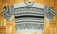 Sweater Vintage 90s Coogi Style Abstract Street Wear Protege Collection Size XL