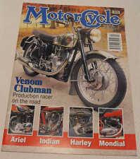 Classic MC 2/94 Mondial, 1912 Harley-Davidson, 1913 Indian, Velocette Venom