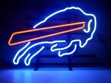 "New Buffalo Bills Neon Light Sign Lamp Beer Pub 14"" Artwork Glass Decor"
