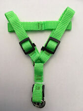 "Dog Harness - Durable Step-in Adjustable Nylon (Large) & Matching 48"" Leash"