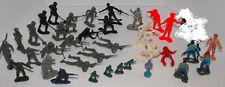 "Vintage Army Men 36 Figures Toys Playset Marx others lot mixed plastic 2"" 1"""
