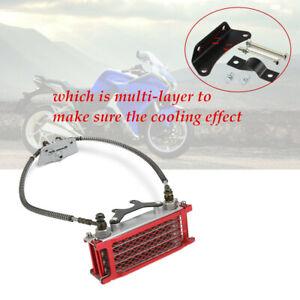 Motorcycle Bike Racing Horizontal Engine Oil Cooler Radiator For 50 70 90 110CC