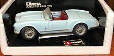 Burago 1955 Lancia Aurelia B 24 Spider 1:18 Die Cast, Made in Italy, Blue !
