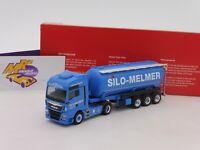 "Herpa 310574 # MAN TGX XXL Euro 6c Silo-Sattelzug "" Melmer/ Kletterstadl "" 1:87"