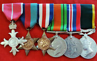 WW2 British Army MBE D-Day casualty evacuation medal group Captain Nial Molony