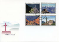 Liechtenstein 2018 FDC Summit Crosses Pt II SEPAC 4v Set Cover Mountains Stamps