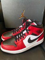 SHIP NOW Nike Air Jordan 1 Retro Mid Chicago Black Toe 4-13 Gym Red 554724-069
