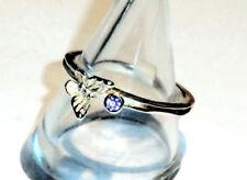 Schmetterling Ring mit Amethyst 925 Sterling Silber Einzelstück Gr 56/17,8mm Neu