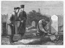 MR MACDUFF The Last of an Old Comrade - Antique Print 1859