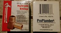 "2 ProPlumber 3/4"" x 3/4"" Brass Hydrant Elbow Underground Yard Irrigation  New"