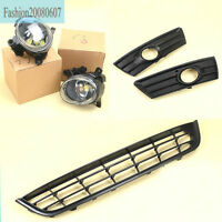 NEW Fog Light Lamp/Front Bumper Lower Grill Grille Set For VW CC 09-12