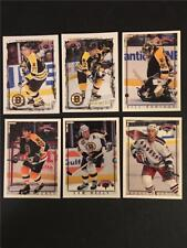 1996/97 Topps & Fleer Picks Boston Bruins Team Set 6 Cards Tough to Find