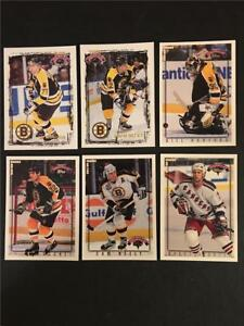 1996/97 Topps & Fleer Picks Boston Bruins Team Set 6 Cards Tough to Find