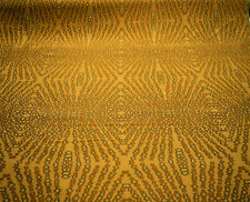 "Robert Allen Gold Abstract Geometric Jacquard Drapery Upholstery Fabric 54""W"
