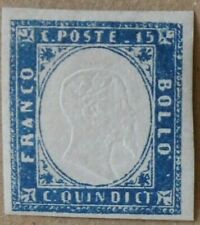 ITALIA REGNO Italy 1863 15 cent. azzurro/sky blue MNH Sass#11 CV250 SPL