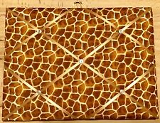 French Bulletin Board Photo Memo Board Brown Giraffe Print 11.8 x 15.7 inches